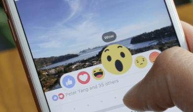 """Make use of Facebook's """"reaction"""" button"""