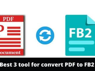 convert PDF to FB2